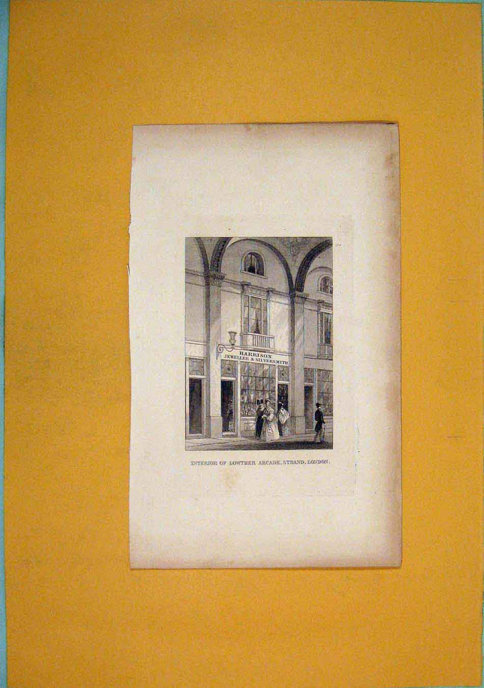 Print Lowther Arcade Strand London C1831 Art 576451 Old Original