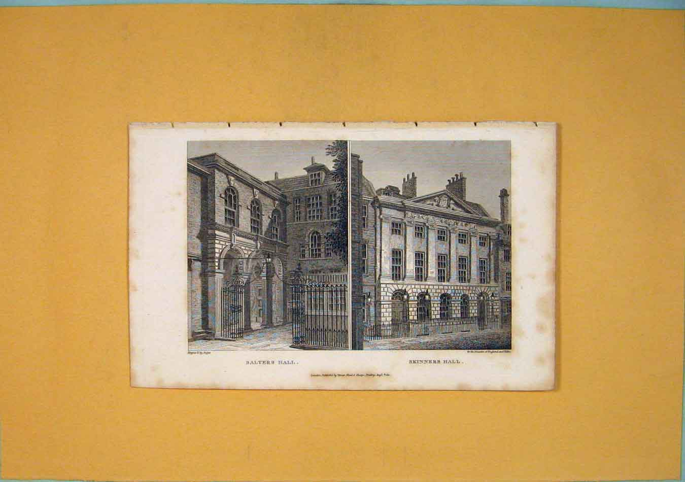Print Salters Hall Skinners Fine Art 886451 Old Original
