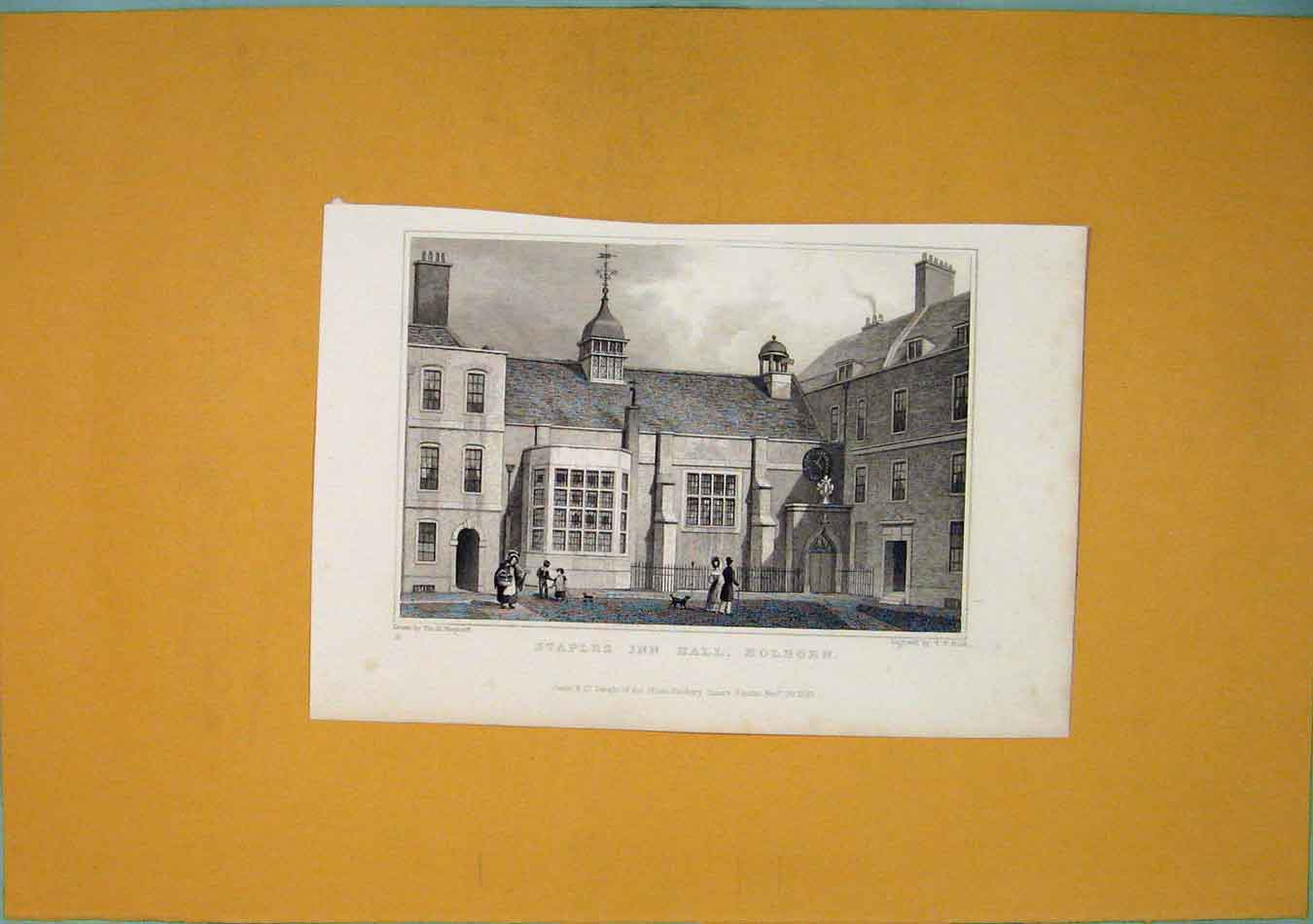 Print Staples Inn Hall Holborn Fine Art 016451 Old Original