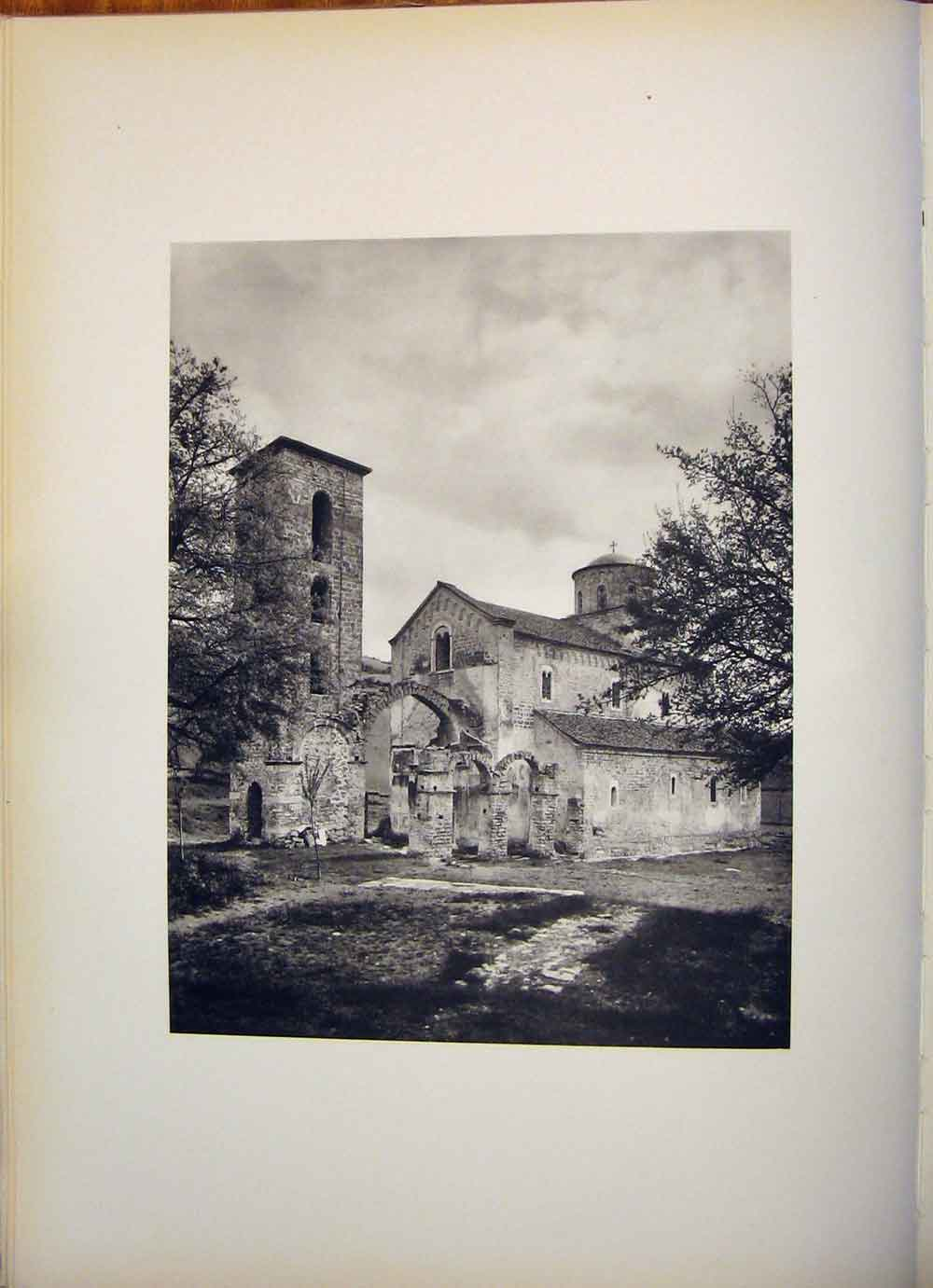 Print Medieval Church Sopocani 1260 Yugoslavia 1955 126471 Old Original
