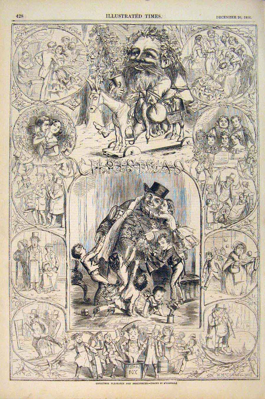 Print Christmas M'Connel Sketches Sketch Illustrations 1856 286551 Old Original