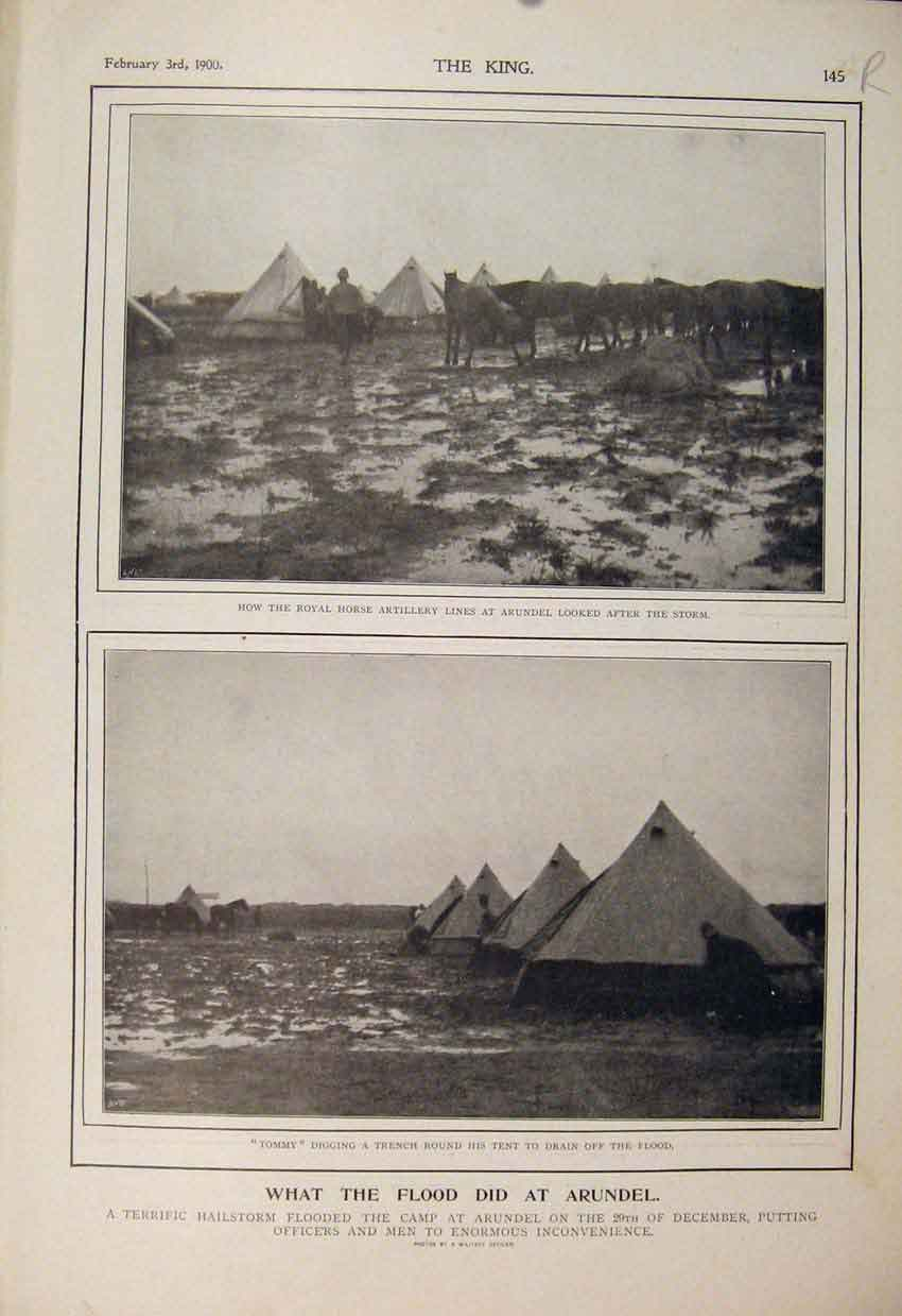 Print Boer War Africa 1900 Flood Arundel Kaffir Indian Native 45R6560 Old Original