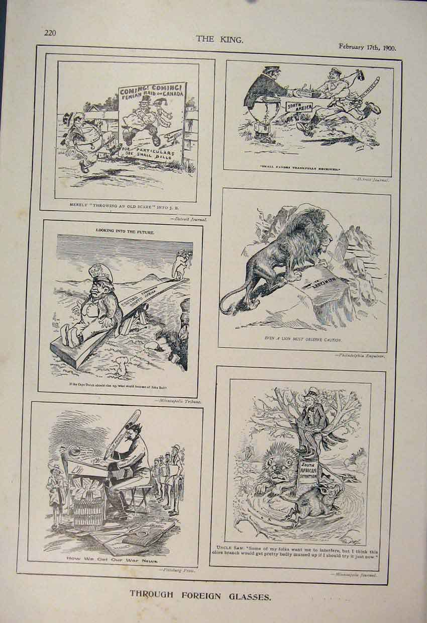 [Print Foreign Sketches Canada American Newspaper 1900 206560 Old Original]