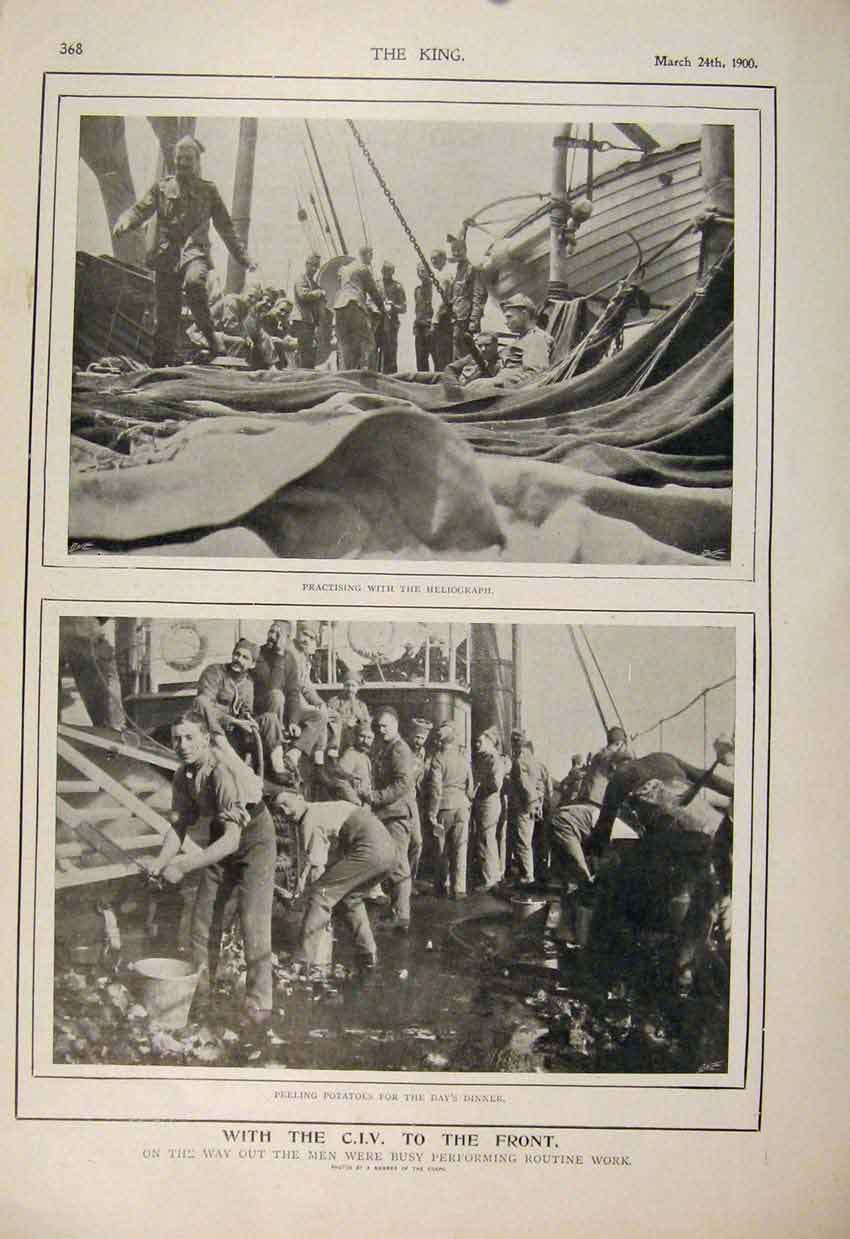 Print Boer War Africa 1900 Cape Town Camp Dinner Lord Mayor 68A6560 Old Original