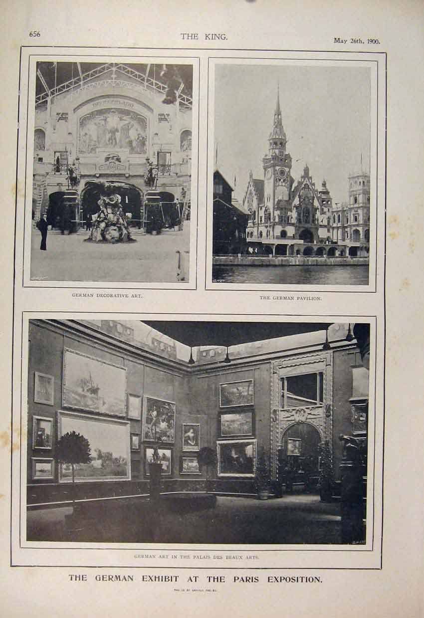 Print Paris Expostition German Exhibit Berlin Toys Sonneberg 56A6560 Old Original