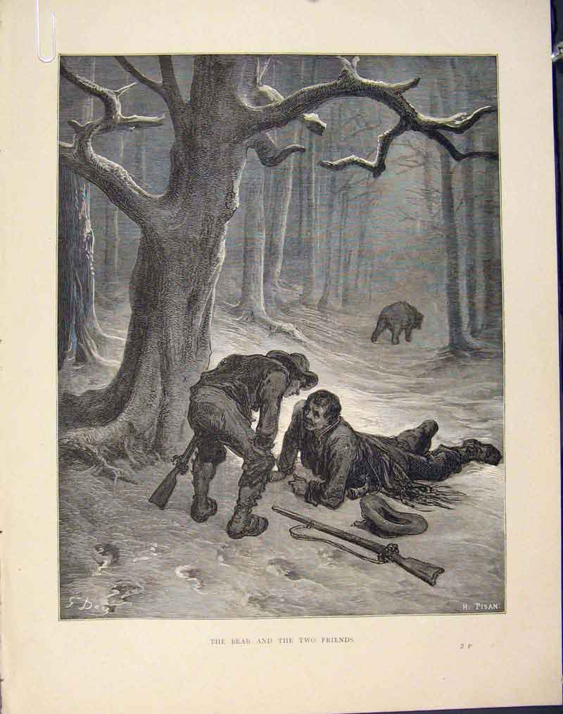 Print Aesop Fable Cvii Jupiter Farmer C1868 Story 076611 Old Original