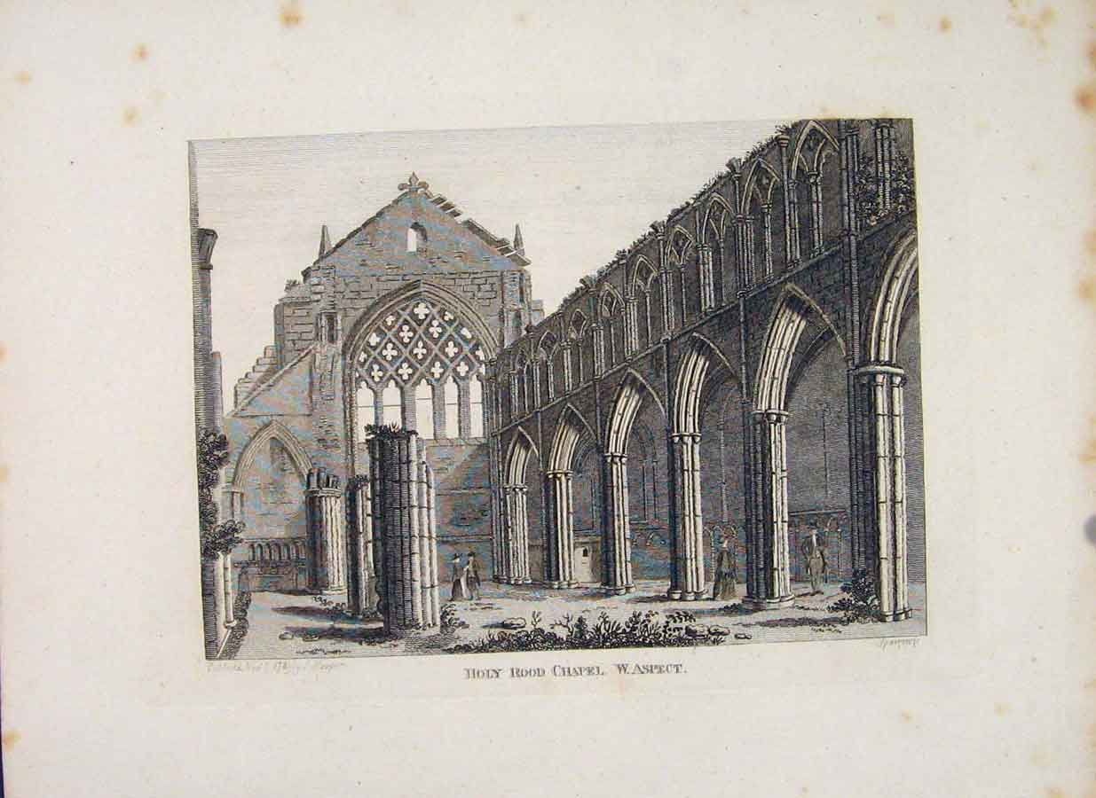 Print Holy Rood Chapel Aspect C1797 Fine Art 106651 Old Original