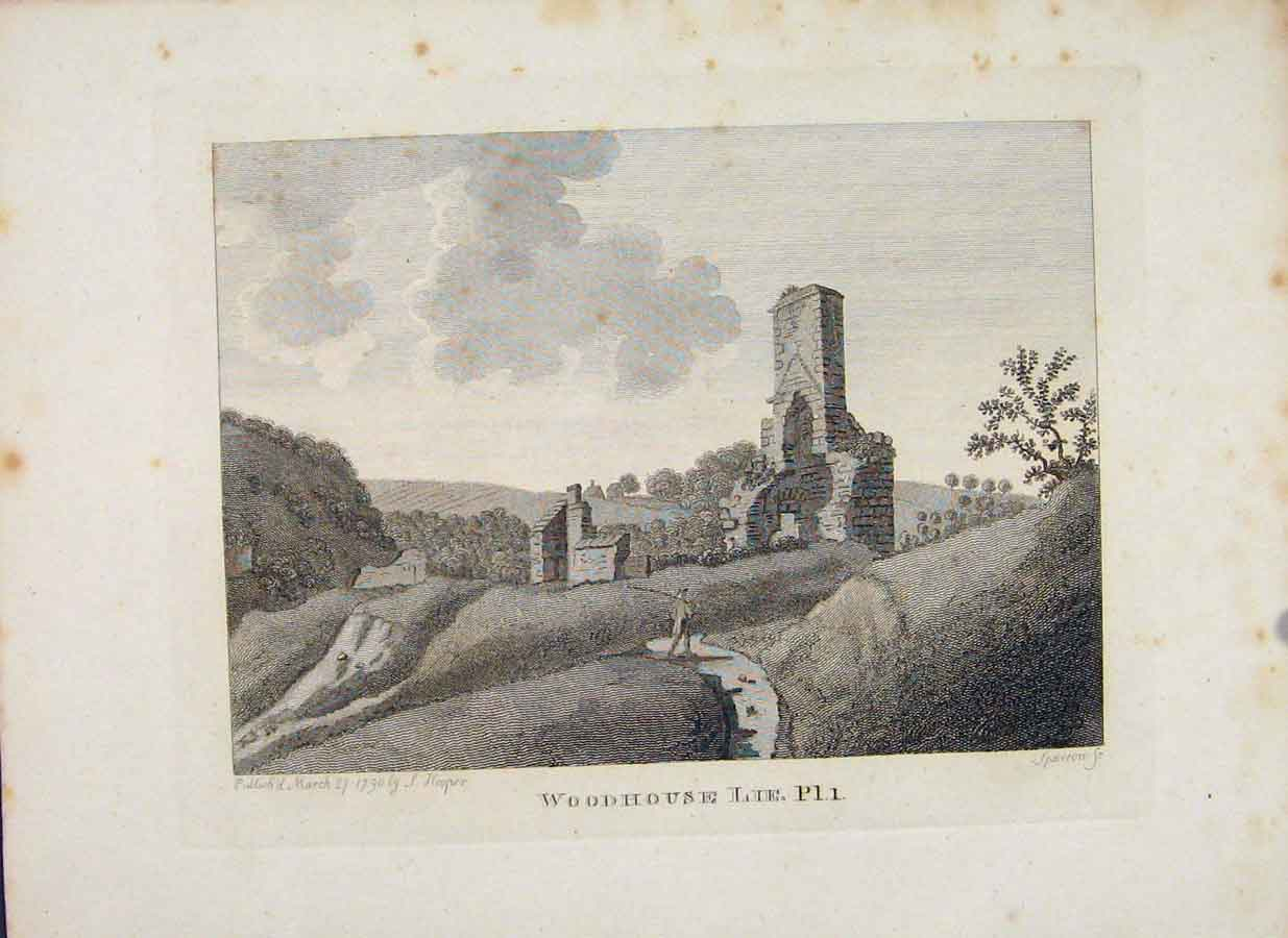 Print Woodhouse Lie Plate 1 Edinburgh Scotland 256651 Old Original