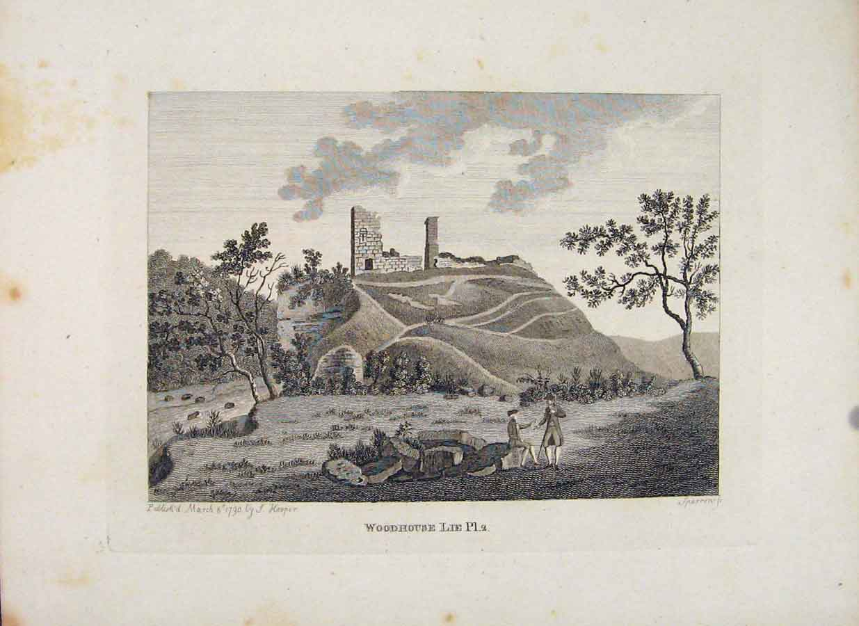 Print Edinburgh Scotland Woodhouse Plate 2 266651 Old Original
