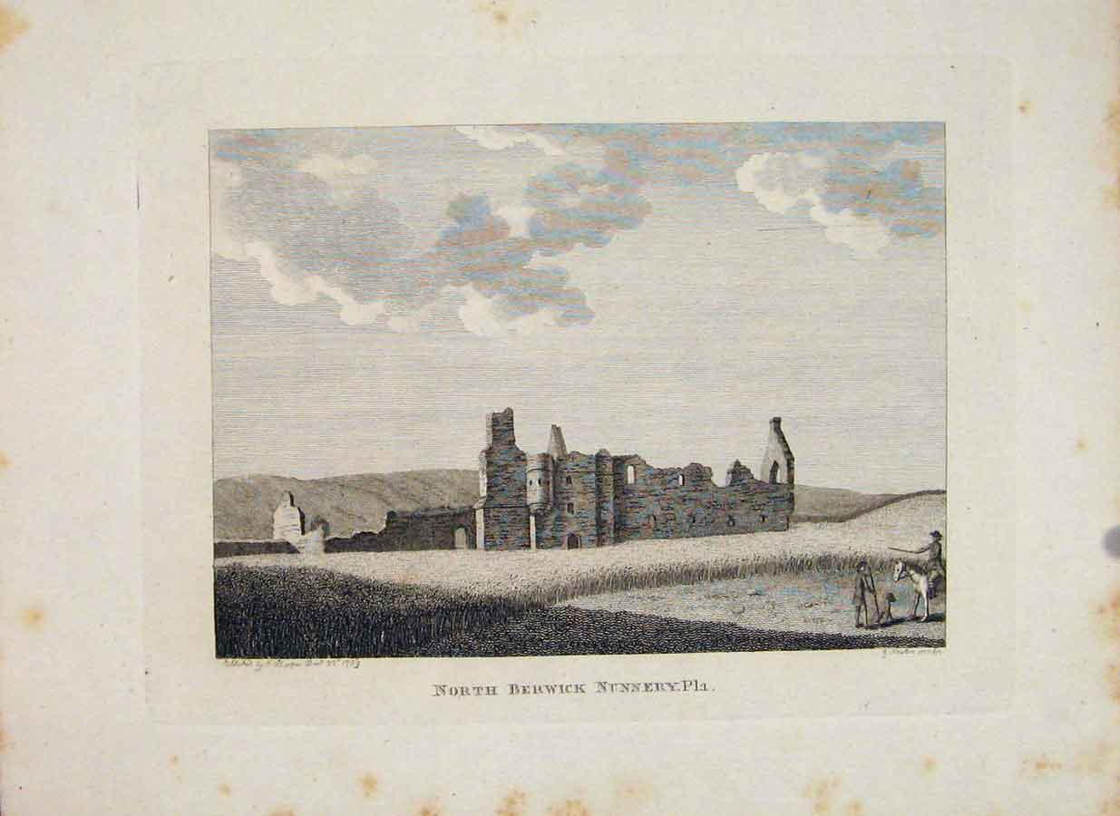 Print Ciftertian Nunery Berwick Haddingtonshire Scotland 366651 Old Original