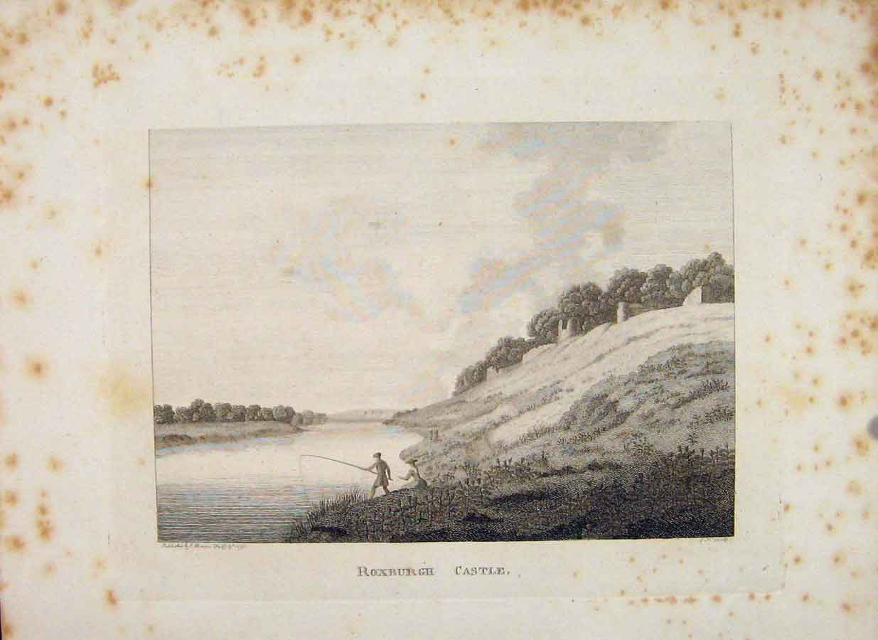 Print Roxburghshire Roxburgh Castle C1797 Art 576651 Old Original