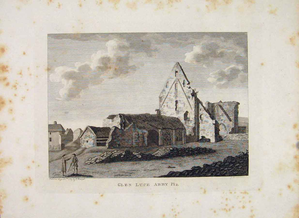 Print Galloway Glen Luce Abbey Plate 2 Scotland 146651 Old Original