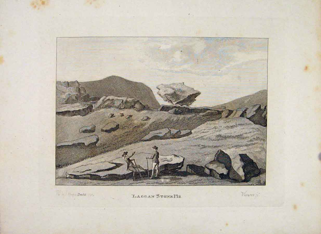 Print Laggen Stone Plate 2 Galloway Scotland 216651 Old Original