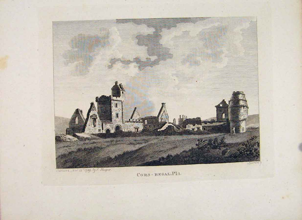 Print Crofaquel Abbey Cors Regal Ayrshire Plate 1 336651 Old Original
