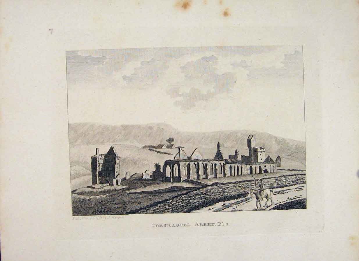 Print Ayrshire Corsraguel Abbey Plate 3 Fine Art 356651 Old Original