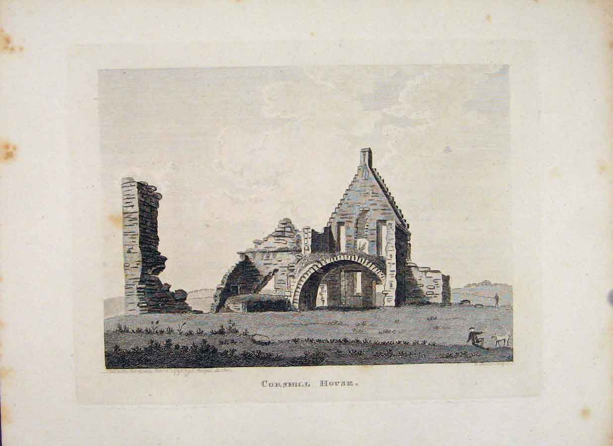 Print Ayrshire Corshill House Fine Art 1797 436651 Old Original