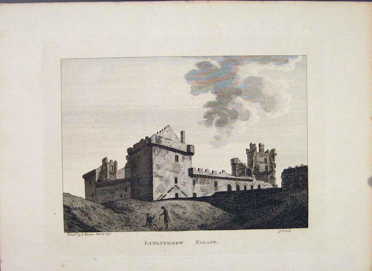 Print Linlithgowshire Linlithgow Palace C1797 546651 Old Original