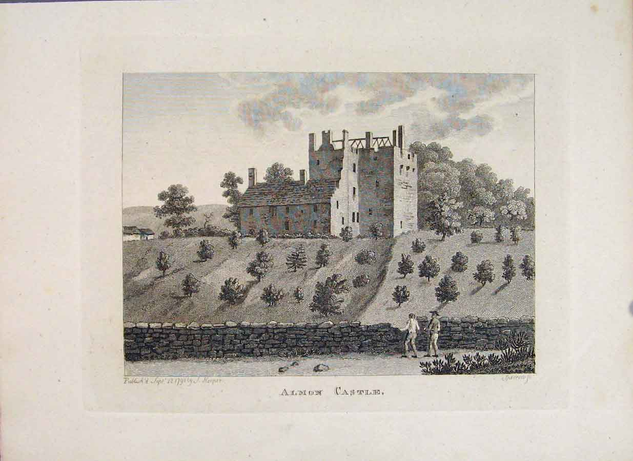 Print Almond House Stirlingshire Almon Fine Art 556651 Old Original
