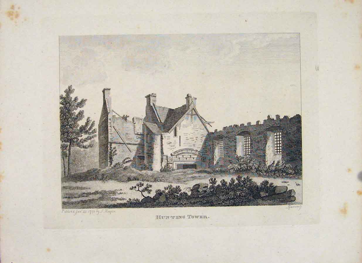 Print Perthshire Hunting Tower Fine Art C1797 636651 Old Original
