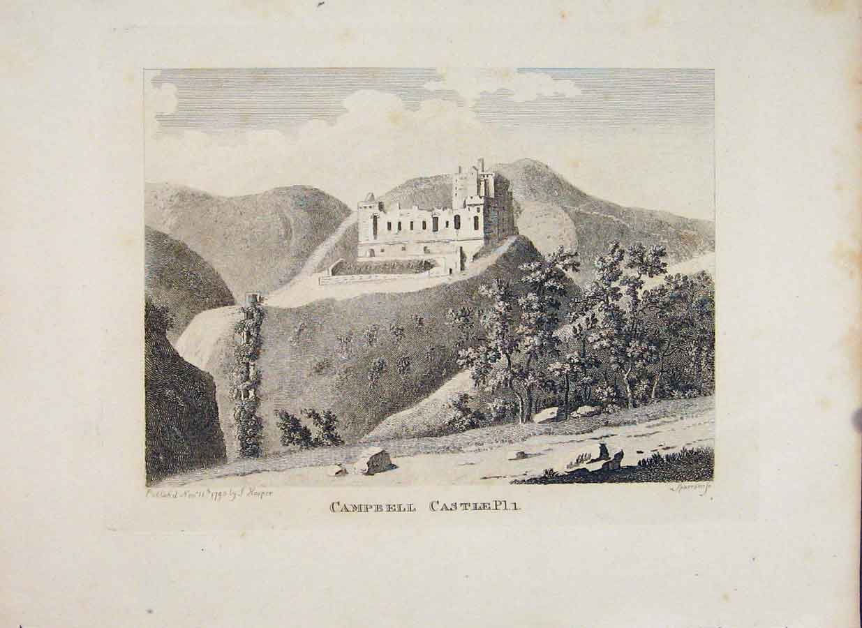 Print Perthshire Campbell Castle Plate 1 656651 Old Original