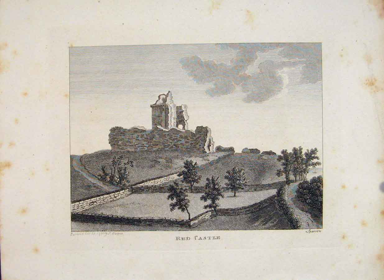 Print Angusshire Red Castle Fine Art C1797 766651 Old Original