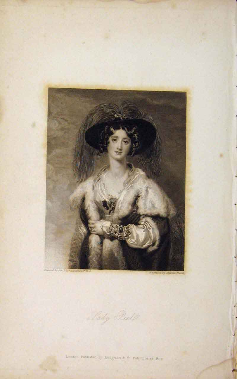 Print Editorial Portrait Fine Art Lady Peel 466671 Old Original