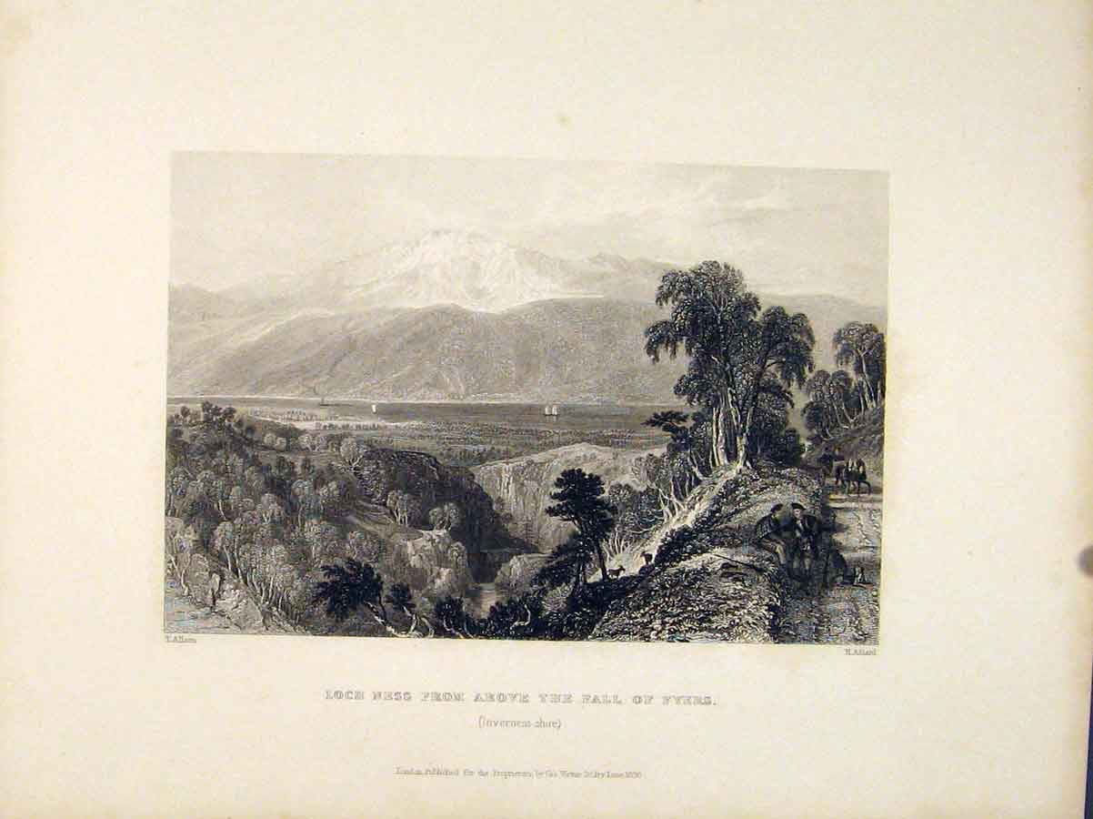 Print Loch Ness Fall Fryers Inverness Scotland 056711 Old Original