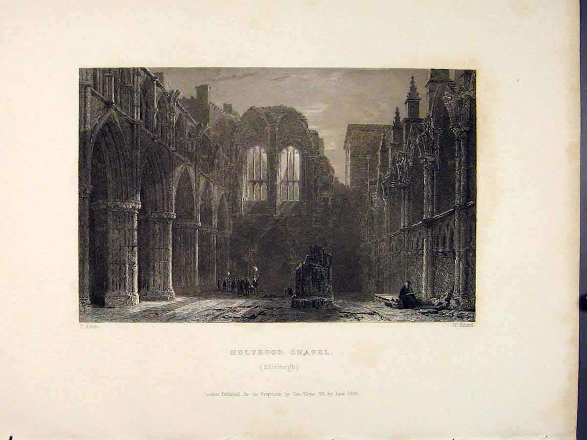 Print Scotland Holyrood Chapel Edinburgh Art 376711 Old Original