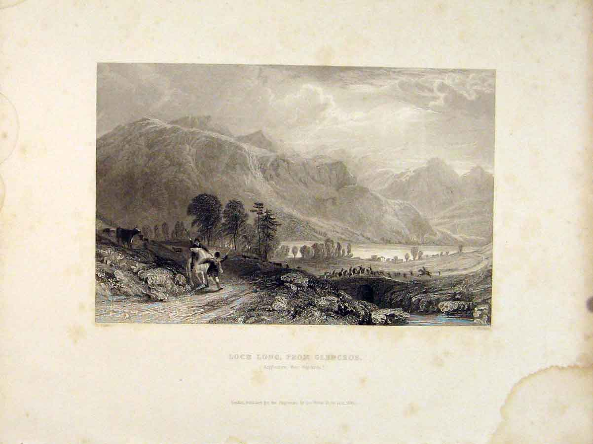 Print Loch Long Glencroe Argyleshire West Highlands Scotland 556711 Old Original