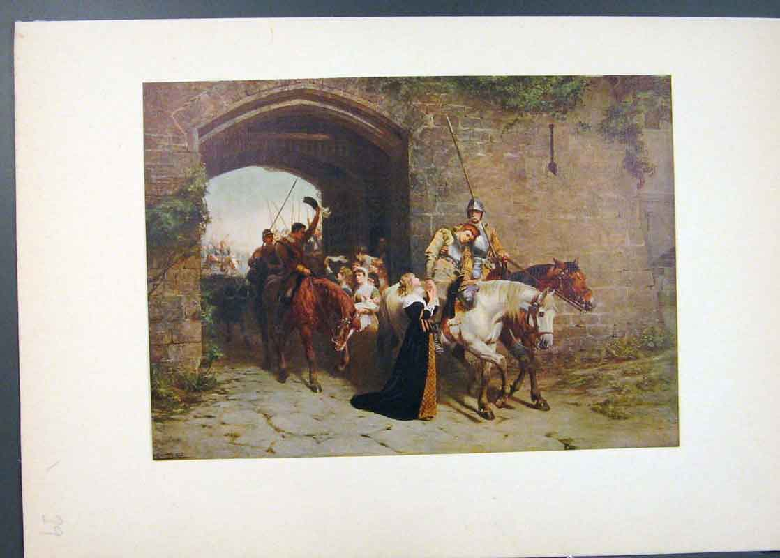 Print Sweethearts And Wives Famous Painting By Waller 396741 Old Original