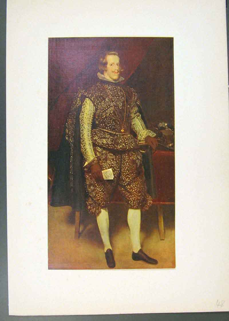 Print King Philip Iv Spain Painted By Velazquez 1913 486741 Old Original