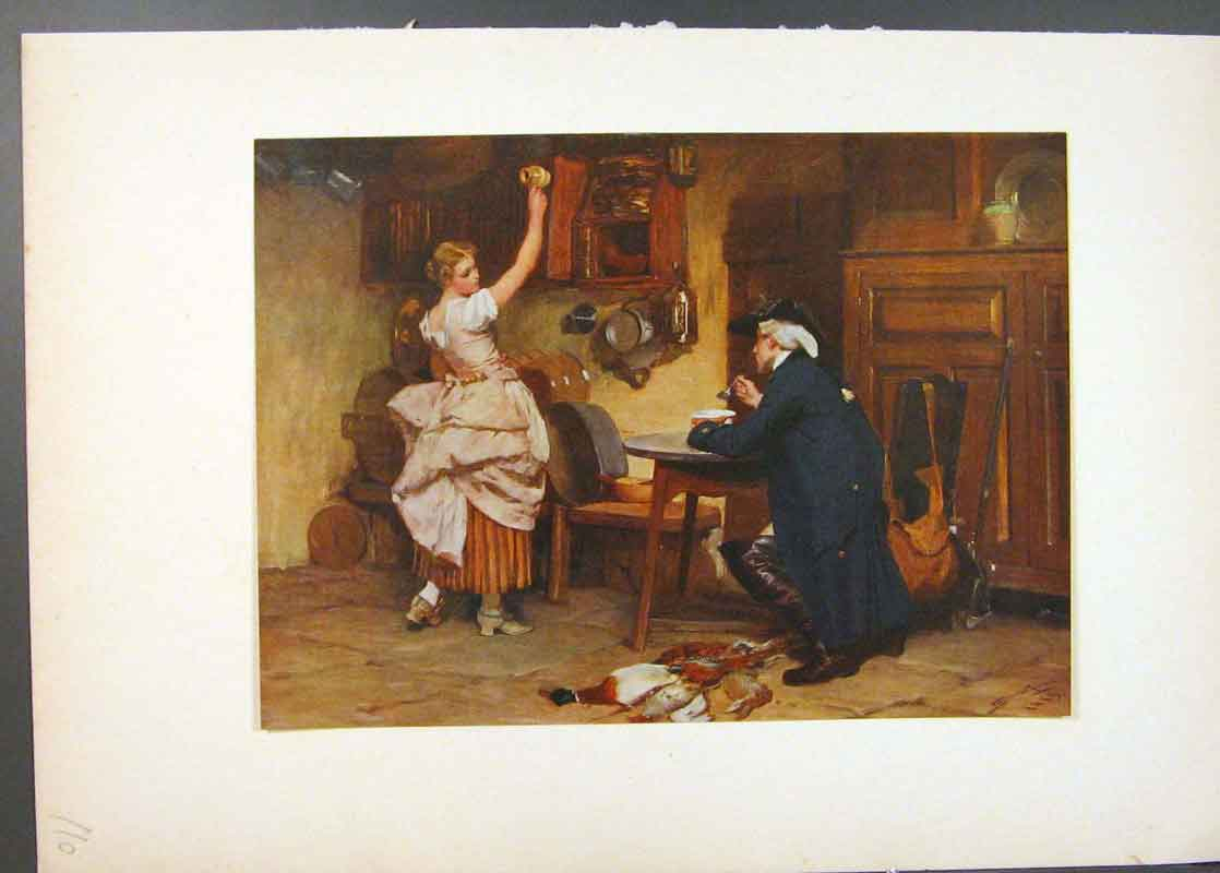 Print Flirtation Famous Painting By Seymour Lucas 106741 Old Original
