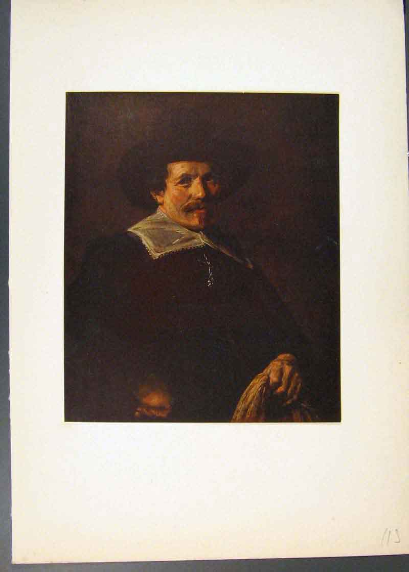 Print Man With A Glove In His Hand Painted By Frans Hals Art 136741 Old Original