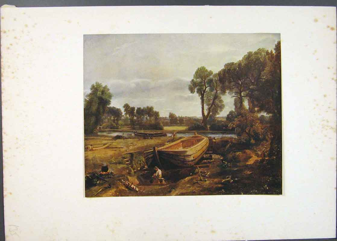 Print Boat Bulding Near Flatford Mill Painted By Constable 356741 Old Original