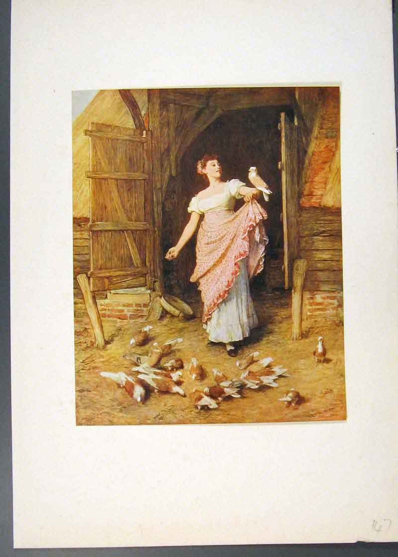 Print Famrmers Gaughter Famous Painting By Sir Orchardson 476741 Old Original