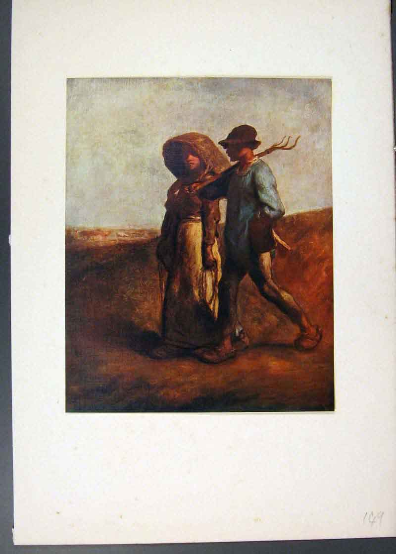 Print Going To Work Famous Painting By Jean Francois Millet 496741 Old Original