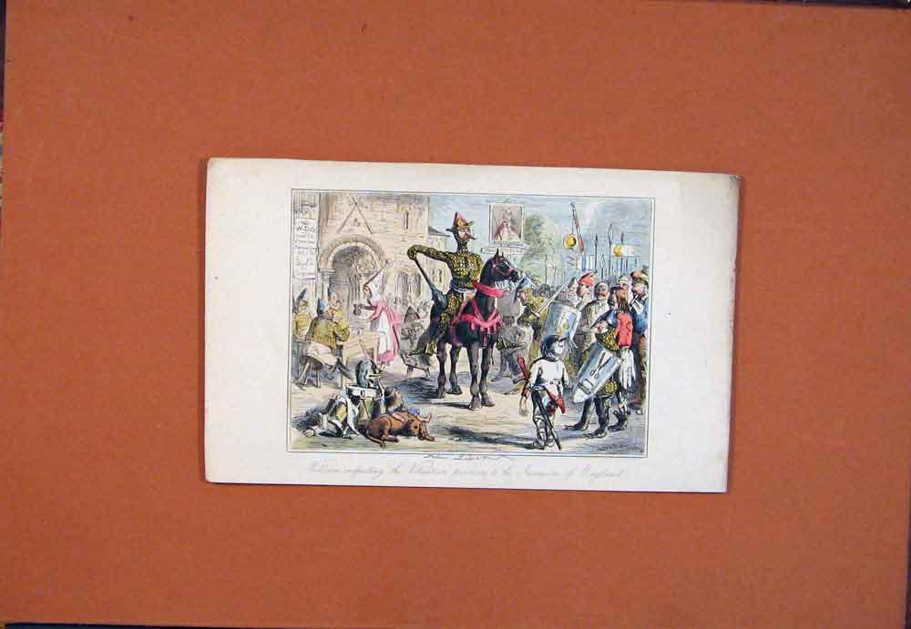 Print William England John Leech Hand Colored 826781 Old Original