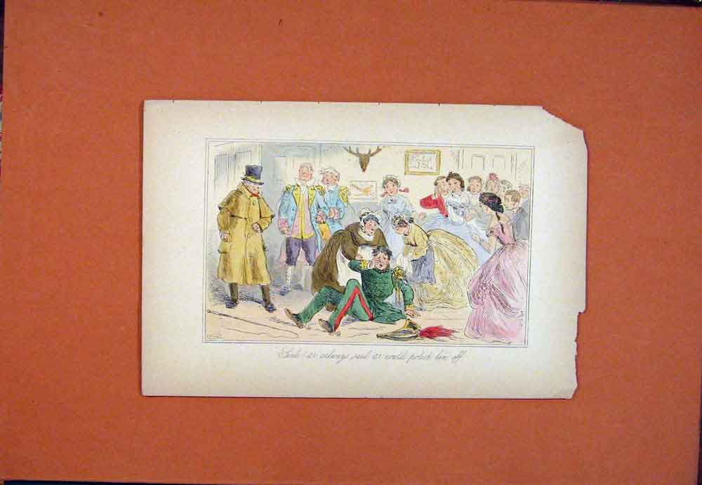 Print John Leech Hand Colored Fine Art C1870 856781 Old Original