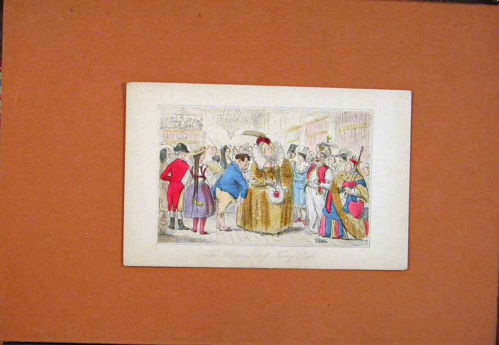 Print C1854 Handley Crofs Fancy Ball Leech Colored 916781 Old Original