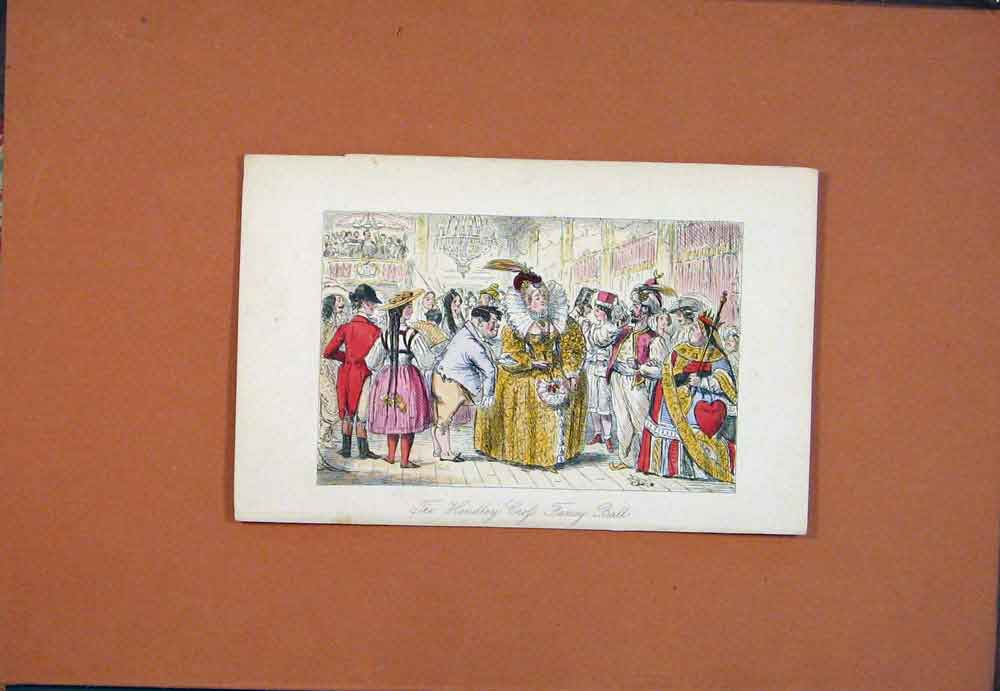 Print C1870 John Leech Madame Normanville Square Drawing 936781 Old Original
