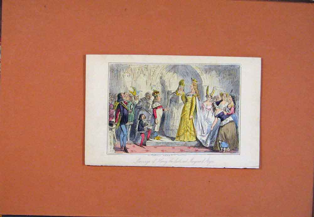 Print Hand Colored John Leech Henry Marriage 086781 Old Original