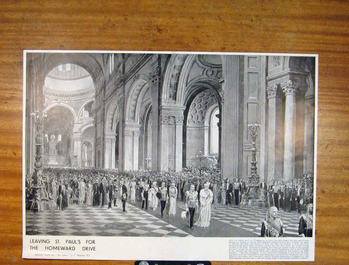 Print St Pauls Homeward Drive Sketch Fine Art 126791 Old Original