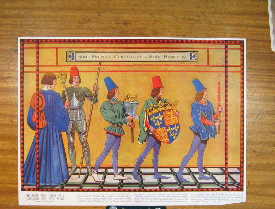 Print Coronations King Henry Ivarms Armour Color 146791 Old Original