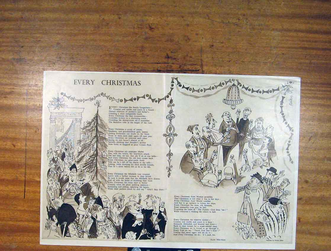 Print Every Christmas Party Gathering Editorial Art 876791 Old Original
