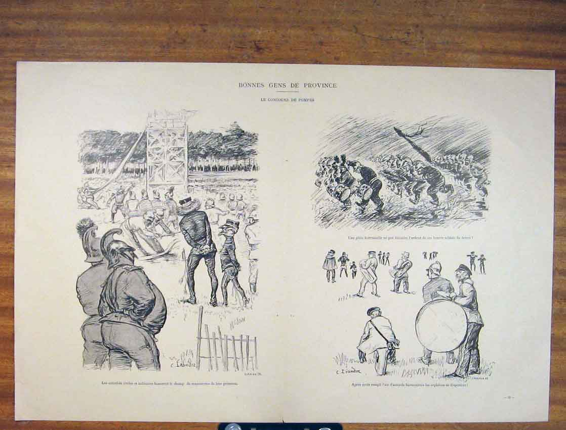 Print Bonnes Gens Province French Battle C1930 906791 Old Original