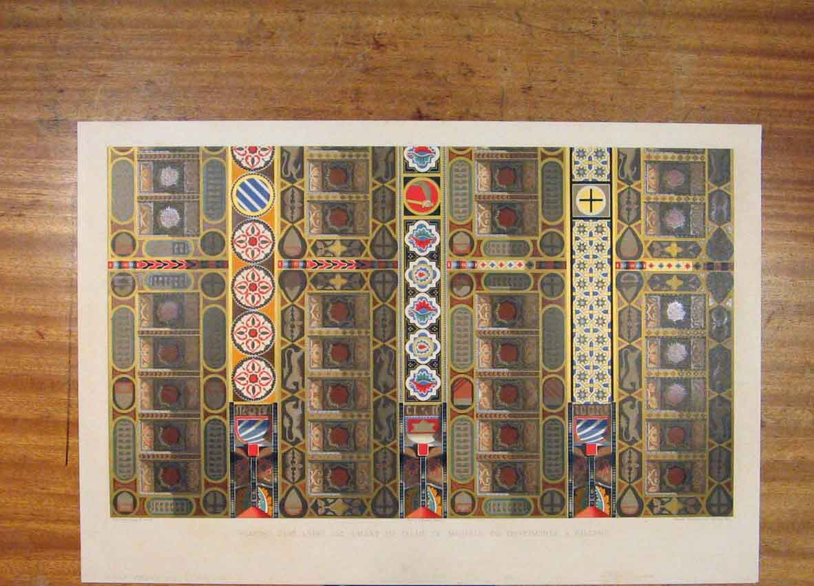 Print C1858 Wall Painting Ceiling Palace Manfred 206811 Old Original
