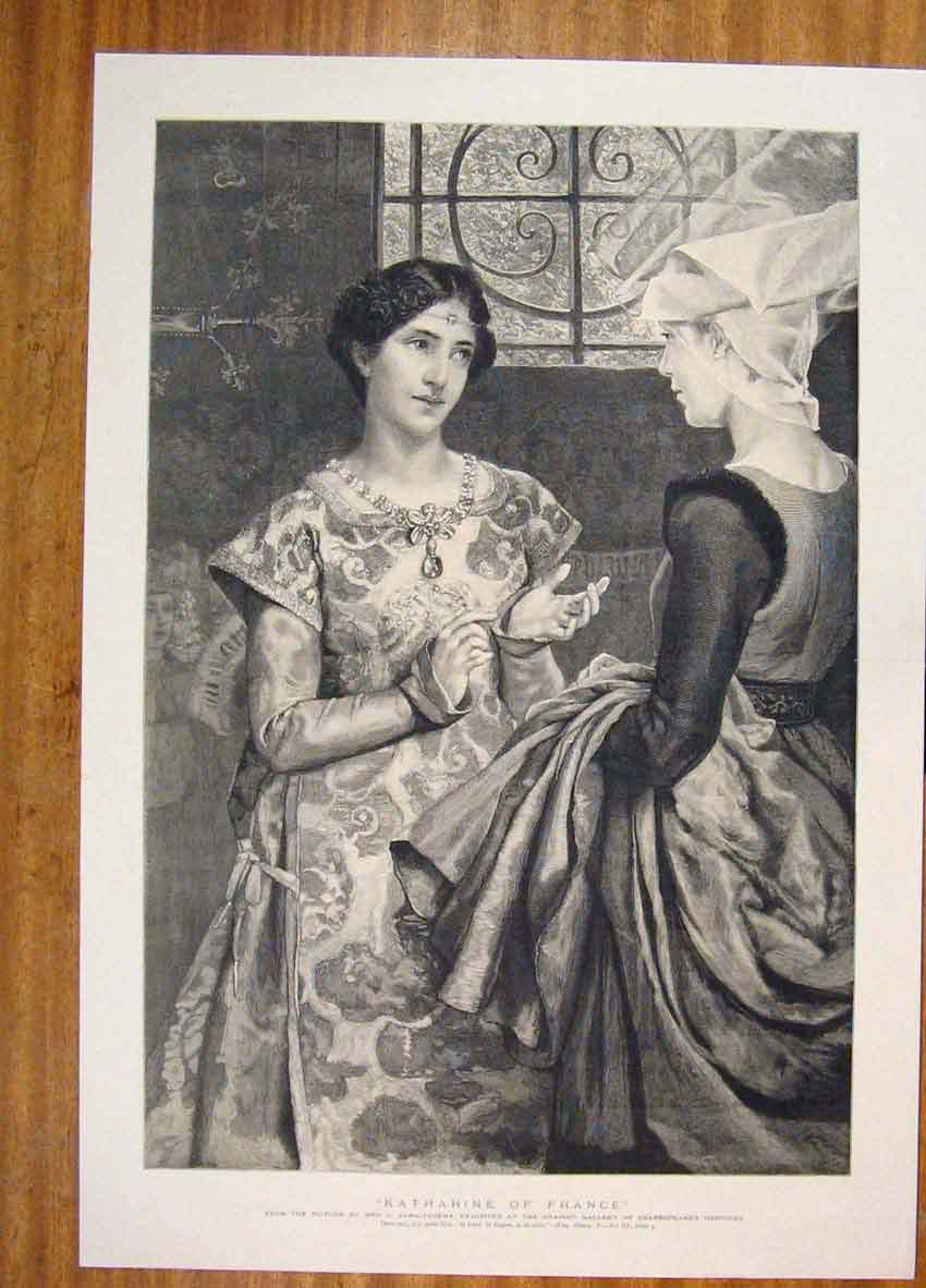 Print Katharine France Portrait Fine Art C1901 596811 Old Original