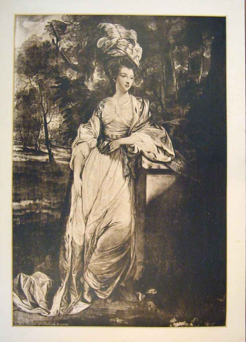 Print Duchess Rutland Reynolds Portrait Fine Art 146811 Old Original