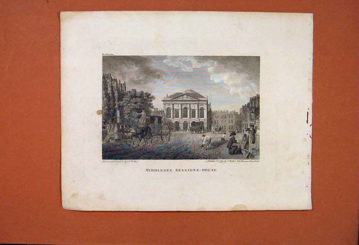 Print Middlesex Sessions House Fine Art C1883 726821 Old Original