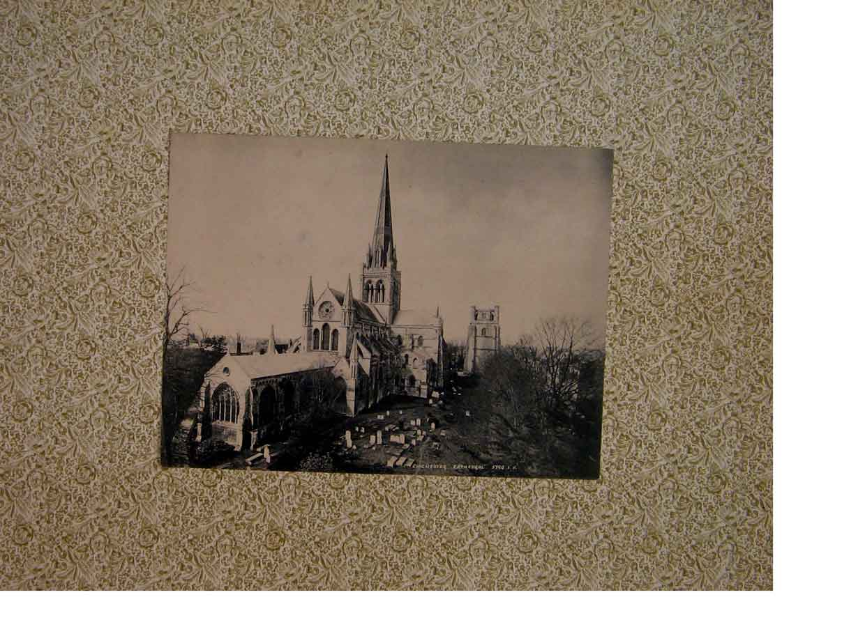 Print Chichester Cathedral Fine Art C1883 866821 Old Original